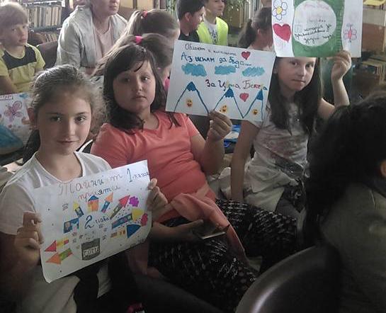 Среща с деца в библиотека Самоков